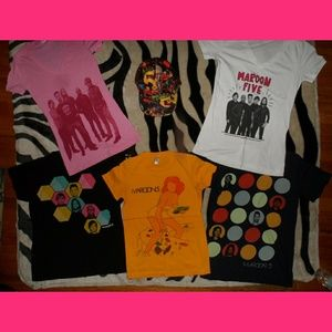 Maroon 5 Bundle 5 Small Shirts 1 Maroon 5 HAT